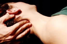 Massaging head and neck
